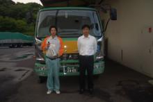 鶴山運送 専務 中岡のブログ-4t平車担当 坂本くん